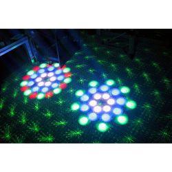 EFFETTO LUCI PSICHEDELICHE DMX DJ PALCO 3in1 strobo + laser + led RGBW - 5