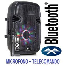 """CASSA ACUSTICA AMPLIFICATA ATTIVA 300W 8"""" BATTERIE BLUETOOTH MICROFONO USB/SD - 1"""