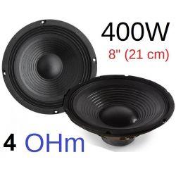 """COPPIA WOOFER ALTOPARLANTI 8"""" (21 CM) 400W 4 OHM CONO casse acustiche o auto - 1"""
