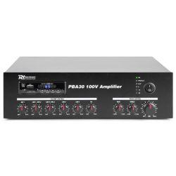 IMPIANTO AUDIO ATTIVO FILODIFFUSIONE LINEA 100V amplificatore BT + 4 casse + 100 mt. cavo