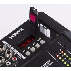 IMPIANTO AUDIO AMPLIFICATO 1400w: 2 casse + mixer attivo + stativi + 2 cavi - 6
