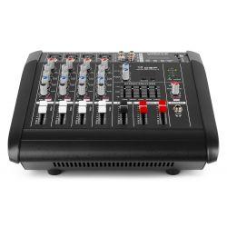 IMPIANTO AUDIO AMPLIFICATO 1400w: 2 casse + mixer attivo + stativi + 2 cavi - 11