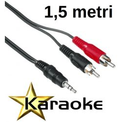 CAVO COMPUTER CASSE 1,5 MT JACK 3,5 MM 2 SPINE RCA ART 50.0002320 - 1