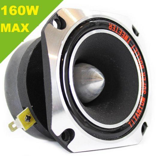 SUPER TWEETER TITANIO 160W MAX COMPRESSIONE 104dB ACUTO DRIVER RICAMBIO CASSE - 1