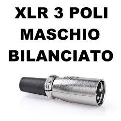 CONNETTORE A SALDARE SPINA CANNON XLR 3 POLI BILANCIATO - 1