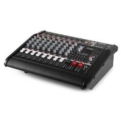 MIXER AUDIO AMPLIFICATO 1000W 8 canali CON EFFETTI FX DSP+ USB dj pianobar - 5