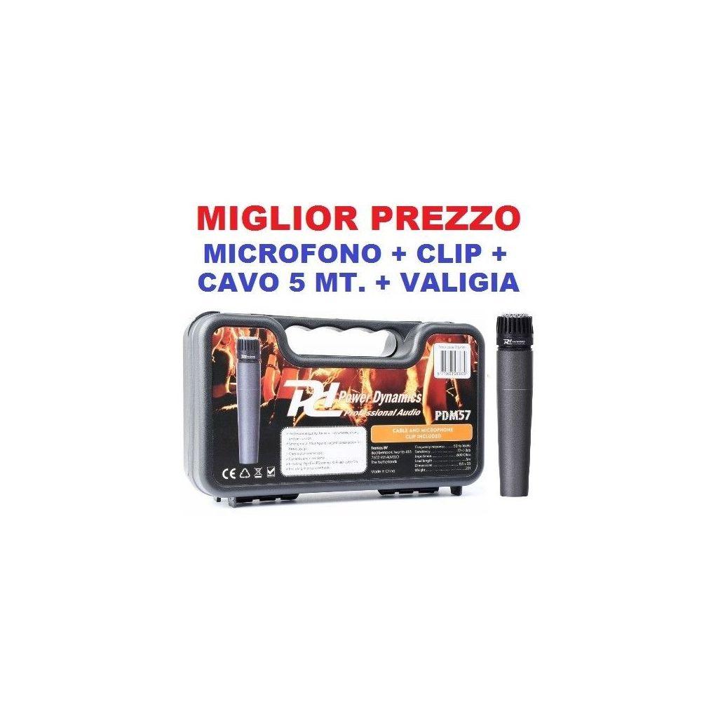 MICROFONO PER BATTERIA PERCUSSIONI STRUMENTI A FIATO art 173434 - 1