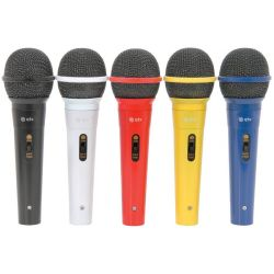 5 MICROFONI CON FILO KARAOKE GELATO MULTICOLOR DINAMICI no wireless
