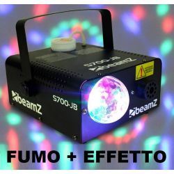 MACCHINA FUMO WIRELESS CON EFFETTO LED A SFERA INTEGRATO 700W professionale - 1
