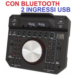 CONSOLE PROFESSIONALE DJ LIVE MIXER CON bluetooth + 2 ingressi usb (separati) - 1