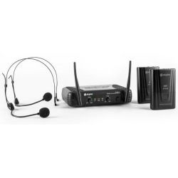 COPPIA MICROFONI ARCHETTO VHF PROFESSIONALI WIRELESS art 179178 - 4