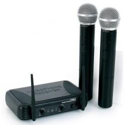 COPPIA MICROFONI WIRELESS VHF A BI CANALI frequenze VHF art 179183 - 3