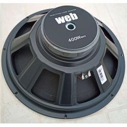 "WOOFER PROFESSIONALE UNIVERSALE 400W 38 CM 8 OHM 15"" ricambio x casse acustiche - 4"