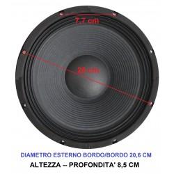 """COPPIA WOOFER ALTOPARLANTI 8"""" (21 CM) 400W 4 OHM CONO casse acustiche o auto - 3"""