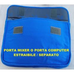 BORSA MULTIFUNZIONE TRACOLLA BLU PORTA COMPUTER PC MIXER CAVI CONNETTORI - 3