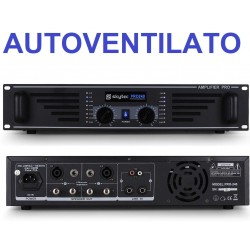 AMPLIFICATORE FINALE DI POTENZA PA PROFESSIONALE 240W VENTILATO A 2 CANALI DJ LIVE