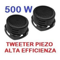 COPPIA TWEETER AUTO 500W PIEZO ALTA EFFICIENZA art. sp140 - 1