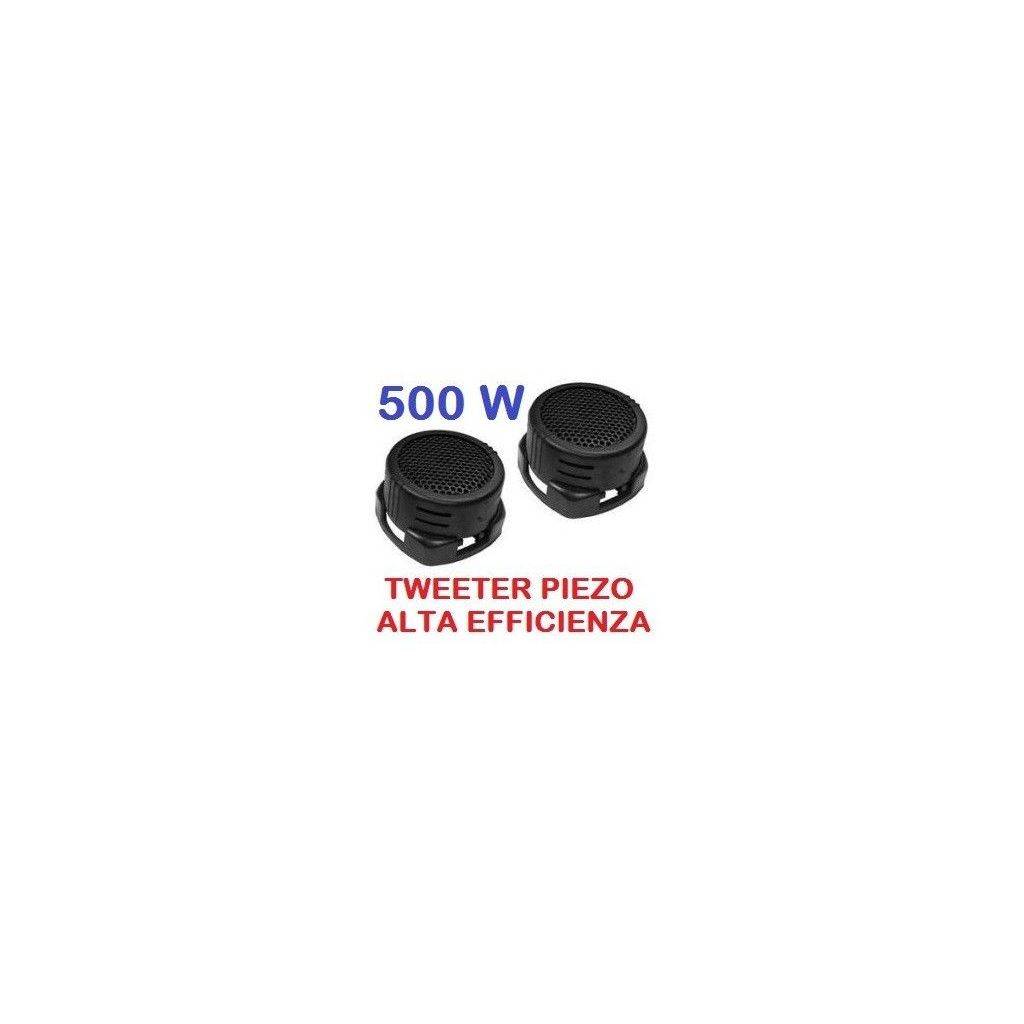 COPPIA TWEETER AUTO 500W PIEZO ALTA EFFICIENZA art. sp140 - 1