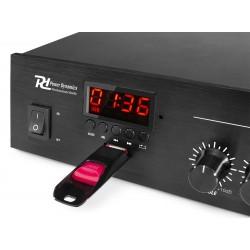 AMPLIFICATORE 100V IBRIDO 4-16 OHM FILODIFFUSIONE LINEA BLUETOOTH + RADIO + USB - 3