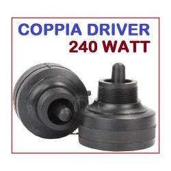 COPPIA DRIVER TWEETER PIEZO ELETTRICO A VITE 240W RICAMBIO CASSE ACUSTICHE