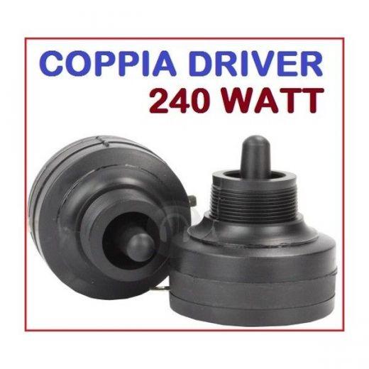 COPPIA DRIVER TWEETER PIEZO ELETTRICO A VITE 240W RICAMBIO CASSE ACUSTICHE - 1