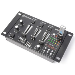 MIXER PROFESSIONALE COMPATTO 2 3 CANALI DISPLAY MP3 PLAYER + USB SD