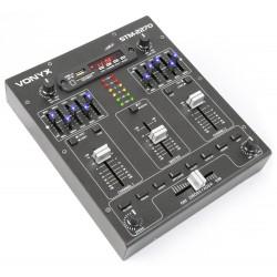 MIXER 3-4 CANALI PRO CON BLUETOOTH + EFFETTI VOCE + INGRESSO USB-SD EQUALIZZATO art. 172982
