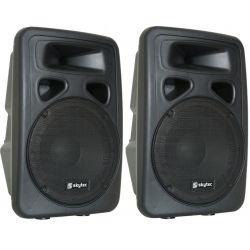 """COPPIA CASSE AMPLIFICATE ATTIVE full range 800W 10"""" (26 cm) DJ KARAOKE SPIE - 1"""