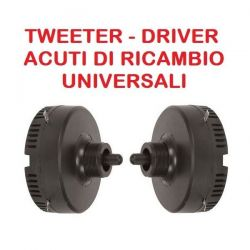 COPPIA DRIVER PIEZO ELETTRICI A VITE universali TWEETER ACUTI PER CASSE ACUSTICHE
