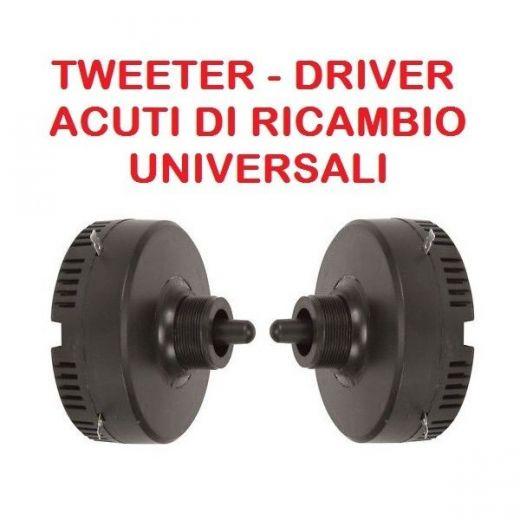 COPPIA DRIVER PIEZO ELETTRICI A VITE universali TWEETER ACUTI PER CASSE ACUSTICHE - 1