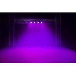 SET EFFETTI LUCE RGBW DJ PIANOBAR LIVE stativo + 4 effetti par led DMX - 9