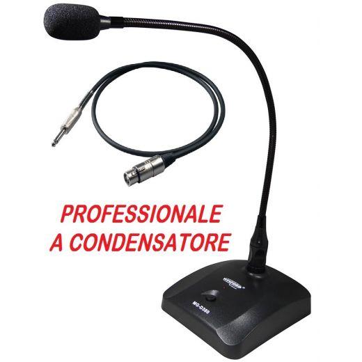 MICROFONO PROFESSIONALE TAVOLO SCRIVANIA A CONDENSATORE CONFERENZE MEETING - 1