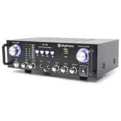 IMPIANTO AUDIO AMPLIFICATO ATTIVO KARAOKE 2 casse passive amplificatore cavi - 3