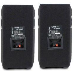 IMPIANTO AUDIO AMPLIFICATO ATTIVO KARAOKE 2 casse passive amplificatore cavi - 4