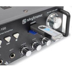 IMPIANTO AUDIO AMPLIFICATO ATTIVO KARAOKE 2 casse passive amplificatore cavi - 5