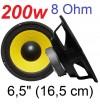 """COPPIA WOOFER ALTOPARLANTE CONO 200W 6,5"""" (16,5 CM) 8 OHM ricambio casse"""