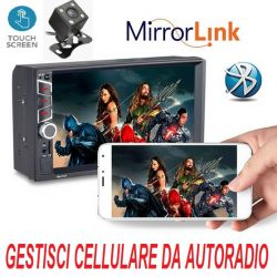 "AUTORADIO 2 DIN 7"" TOUCH BLUETOOTH AUTO MIRRORLINK TELECAMERA - 1"