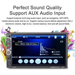 "AUTORADIO 2 DIN 7"" TOUCH BLUETOOTH AUTO MIRRORLINK TELECAMERA"