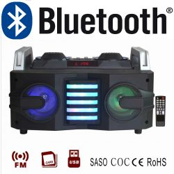 SISTEMA AUDIO ALL IN ONE STEREO CASA CASSE KARAOKE BLUETOOTH USB SD RADIO - 1