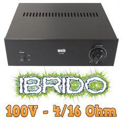 AMPLIFICATORE LINEA 100V IBRIDO 4-16 OHM x impianti filodiffusione