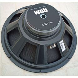 "WOOFER PROFESSIONALE 400W IN FIBRA DI VETRO 38 CM 4 OHM 15"" ART W154"