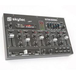 Mixer audio professionale dj 6 Canali Bluetooth USB SD MP3 FX mix