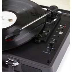 GIRADISCHI VINILE PIATTO CON BLUETOOTH + CONVERTITORE IN MP3
