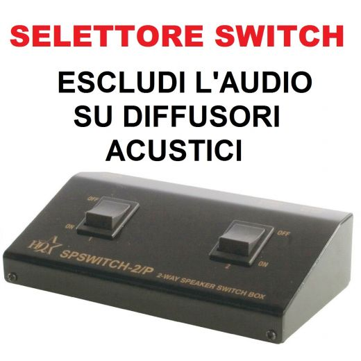 SELETTORE AUDIO SWITCH COMMUTATORE FILODIFFUSIONE (disattivi l'audio su stanze separate)