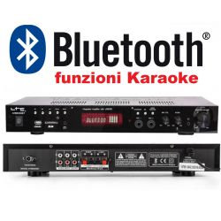 AMPLIFICATORE STEREO HIFI HOME THEATRE KARAOKE BLUETOOTH USB/SD