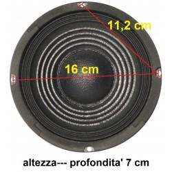 """COPPIA WOOFER 200w X 2 CONO 6,5"""" 16 16,5 CM  X CASSE SPORTELLO PORTIERA AUTO"""