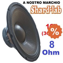 "WOOFER ALTOPARLANTE CONO PROFESSIONALE 12"" 30 31 CM 8 OHM 300W SHARD-LAB"