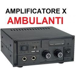 AMPLIFICATORE AMBULANTI CON SIRENA X AUTO FURGONE CAMION 12V