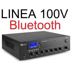 AMPLIFICATORE 100V IBRIDO 8 OHM FILODIFFUSIONE LINEA BLUETOOTH + USB + TELECOMANDO