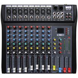 MIXER AUDIO STUDIO 8 CH. KARAOKE DJ STUDIO CON DISPLAY + USB